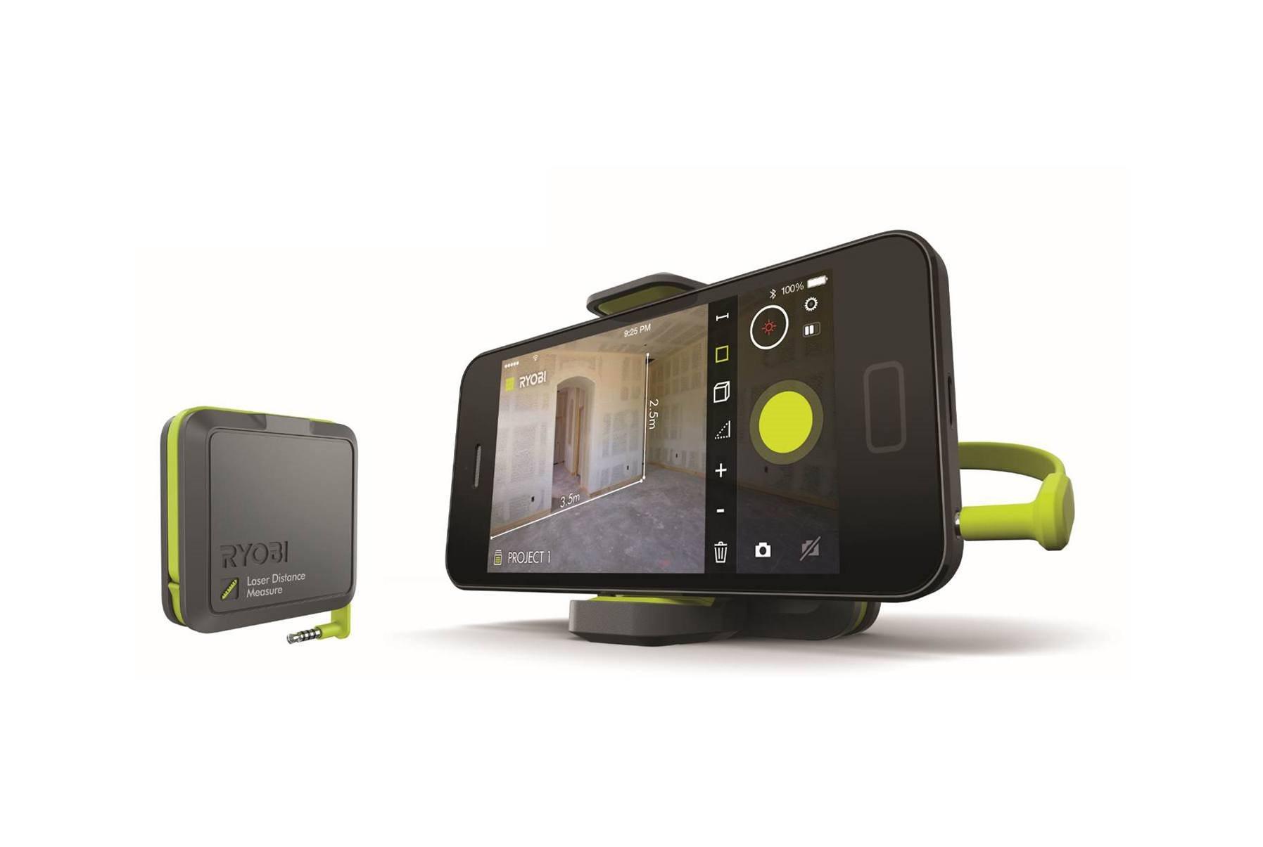 Infrarot Entfernungsmesser : Ryobi phone works: entfernungen schnell und einfach messen