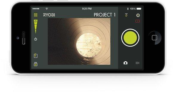 Ryobi™ phone works™ inspektionskamera werkzeug schlitt präzision